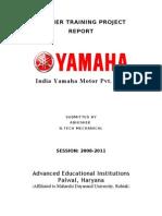 Yamaha Summer Training Project