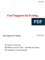 Tool Support ForTesting
