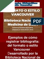 Ref.bibliograficas. Vancouver