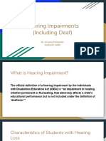 14 hearing impairments  including deaf