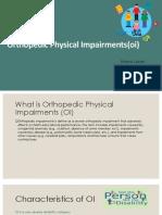 15 orthopedic impairments