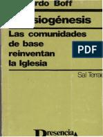 Boff, Leonardo - Eclesiogenesis