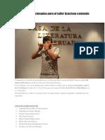 Personas Seleccionadas Para El Taller Quechua Cantando