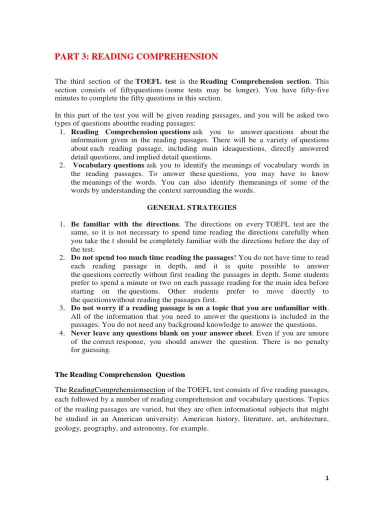 Kunci Jawaban Section 3 Reading Comprehension Guru Galeri