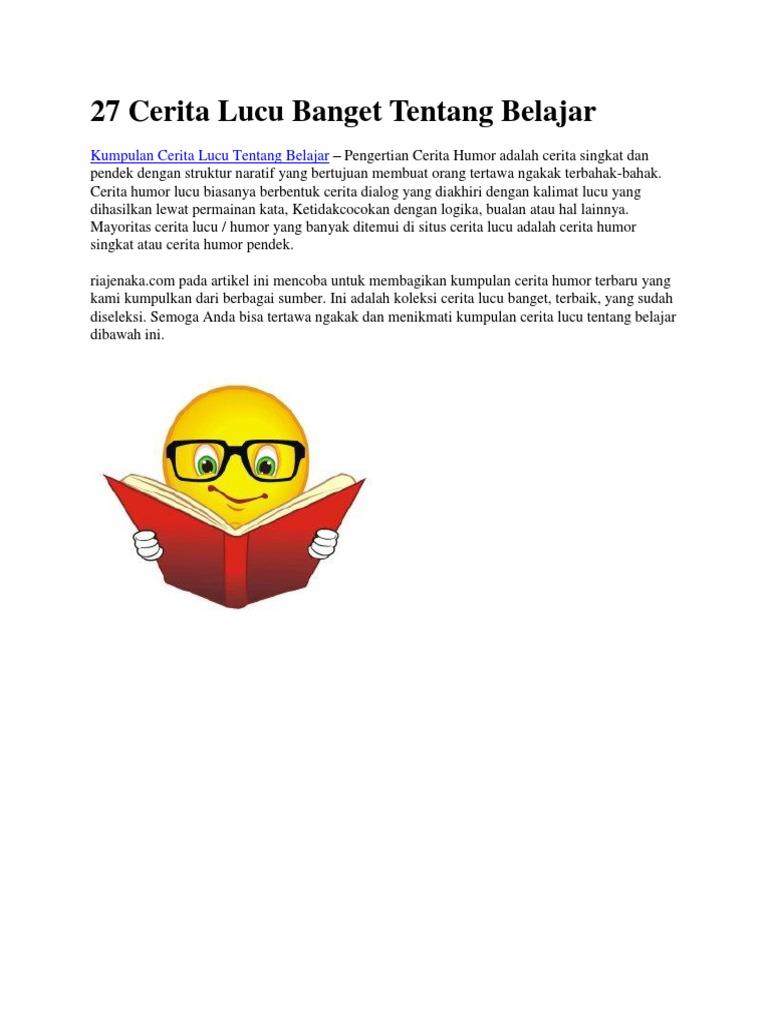 27 Cerita Lucu Banget Tentang Belajar