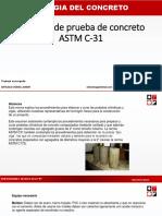 Cometario Astm C-31 Junior Arteaga