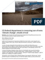 US Federal Department is Censoring Use of Term 'Climate Change', Emails Reveal _ Environment _ the Guardian