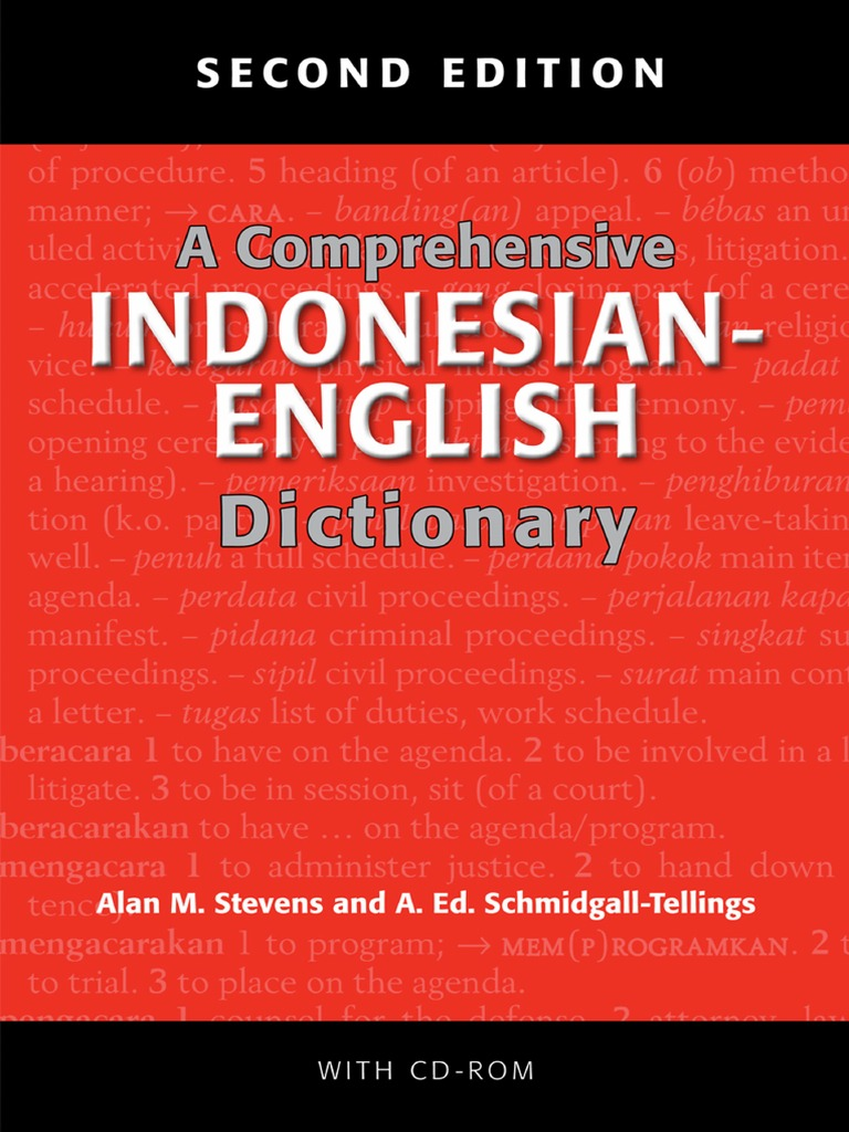 A Prehensive Indonesian English Dictionary