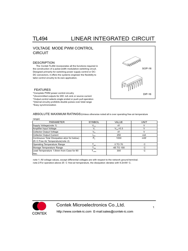 Simplified Power Supply Design Using The Tl494 Control Circuit