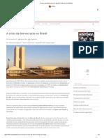 A Crise Da Democracia No Brasil _ Leituras Da História