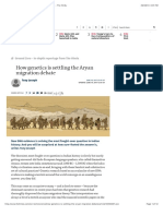 How Genetics is Settling the Aryan Migration Debate - The Hindu
