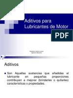 Aditivos Para Lubricantes de Motores