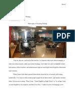 david snow philosophy of teaching writing  edited 12-13