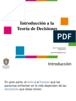 m1_introduccion a La Teoria de Decisiones