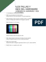 Principales Fallas y Soluciones Del Hardware