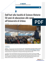 Dall'ISEF alla Facoltà di Scienze Motorie