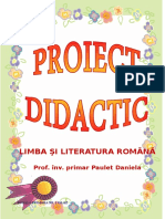 0 192 Proiect Didactic
