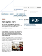 Pizza Hut and Domino's Fight for India's Market Share - October 1, 2007