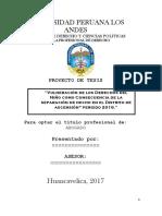 Vulneración de Los Derechos Del Niño Como Consecuencia de La Separación de Hecho en El Distrito de Ascensión Periodo 2016