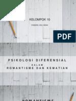 Psikologi Diferensial Dalam Romantisme Dan Kematian