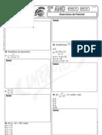 Matemática - Pré-Vestibular Impacto - Fatorial de um Número - Exercícios