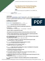 Multiple Choice Questions for Fashion Designing, Garments and Merchandising Job _ Yarn _ Fibers.pdf