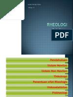 RHEOLOGI