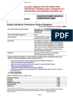 Appendix 1 Example Clinical Guideline Format Single Unit Transfusion