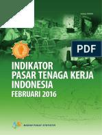 Indikator Pasar Tenaga Kerja Indonesia Februari 2016