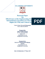 International Convention on Civil and Political Rights (ICCPR) and Critical Analysis