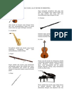 Nama Nama Alat Musik Di Orkestra