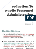 Chapter 1-Introduction to Public Personnel Administration