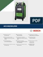 ACS 600 601 650 Operating Instructions