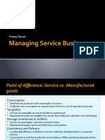Managing a Service Business
