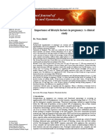 Importance of Lifestyle Factors in Pregnancy a Clinical
