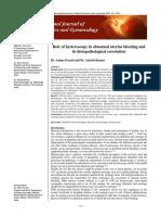 Role of Hysteroscopy in Abnormal Uterine Bleeding And
