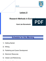 Research Methods in Economics_Borowiecki_2011