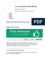 Añadir Iconos a Los Menús en WordPress