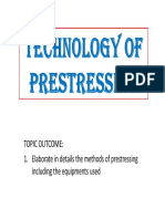 Week 3 - Technology of Prestressing