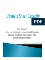 Week 9 - Ultimate Shear Capacity