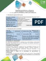 Guía de Actividades y Rúbrica de Evaluación - Tarea 4. Definir y a Nalizar Una Problemática Ambiental