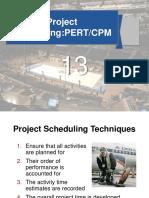 Scheduling - PERT CPM