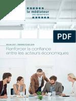 Rapport 2017 - Perspective 2018 du Médiateur des Entreprises