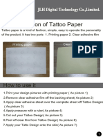 Instruction of Tattoo Paper