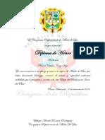 Diplloma de Honor Congreso y Certificado de Acreditacion