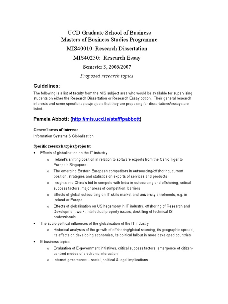 specific research topics