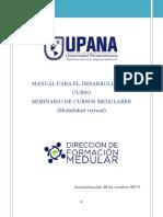 Manual Para El Desarrollo Del Curso Seminario de Cursos Medulares (Modalidad Virtual)