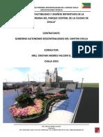 Especificaciones Tecnicas Arquitectonico Parque Chilla