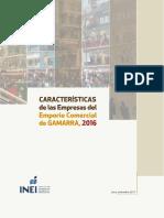 Caracteristicas de Las Empresas Del Emporio Comercial de Gamarra, 2016