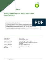 ANG-RGN-OP-PRO-0014 Rev A1 BP Angola Procedure Lifting Operation and Lifting Equipment Management